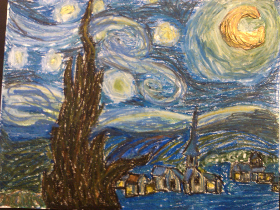 Vincent Van Goghs Stary Night Pastel Version By ElusiveFanatic On
