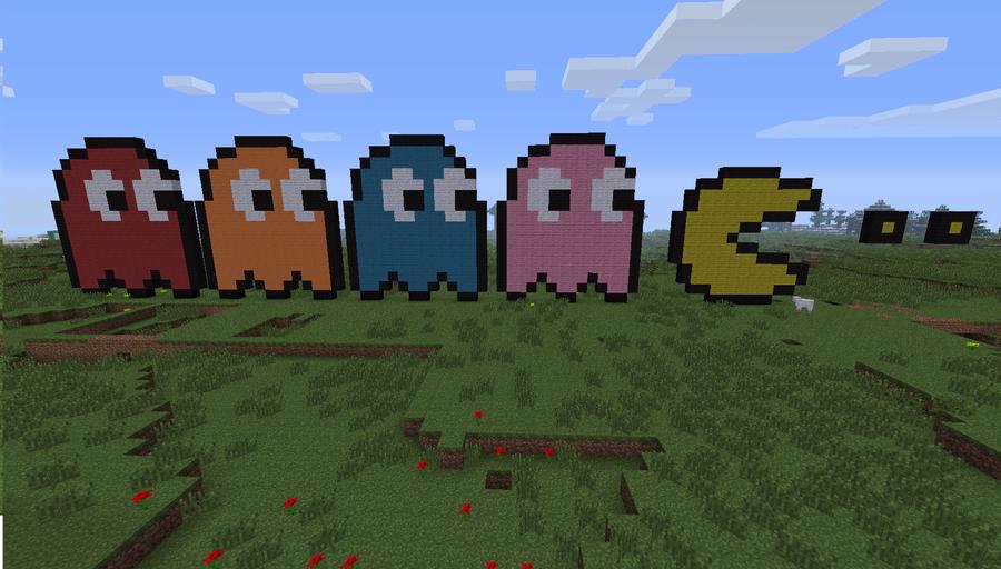 Pacman Pixel Art Minecraft Minecraft Pixel Art Pac Man