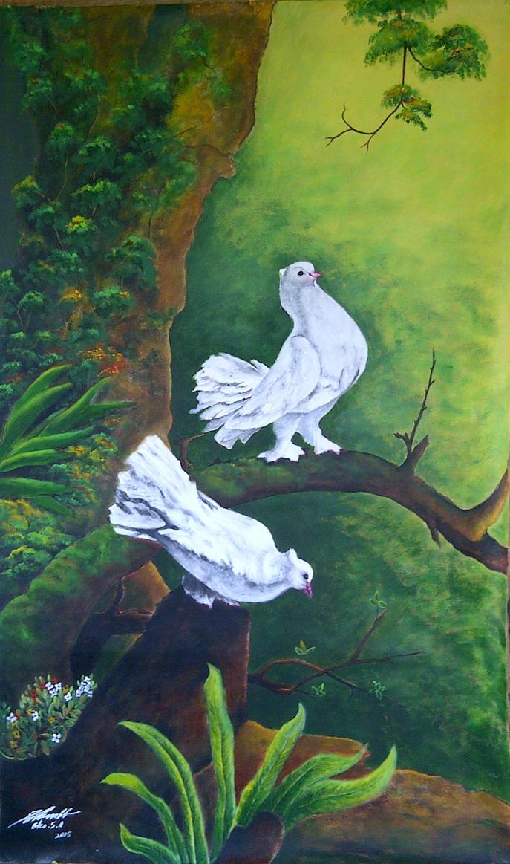 White Doves by ekosyaiful