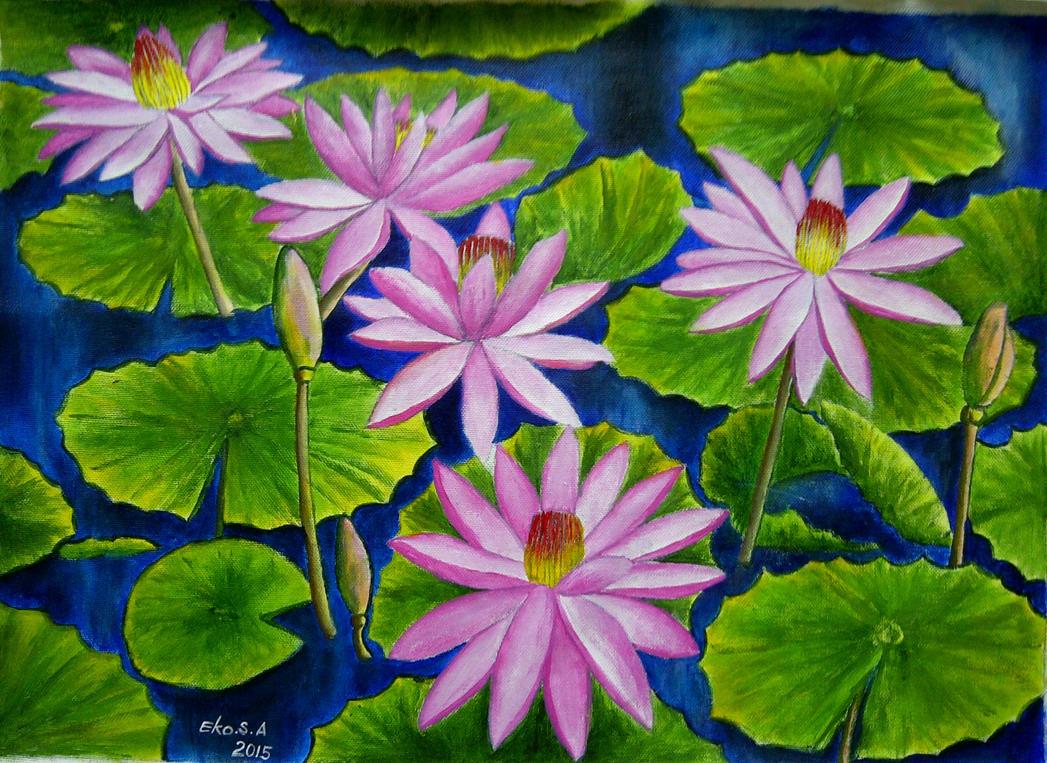 waterlily flowers by ekosyaiful