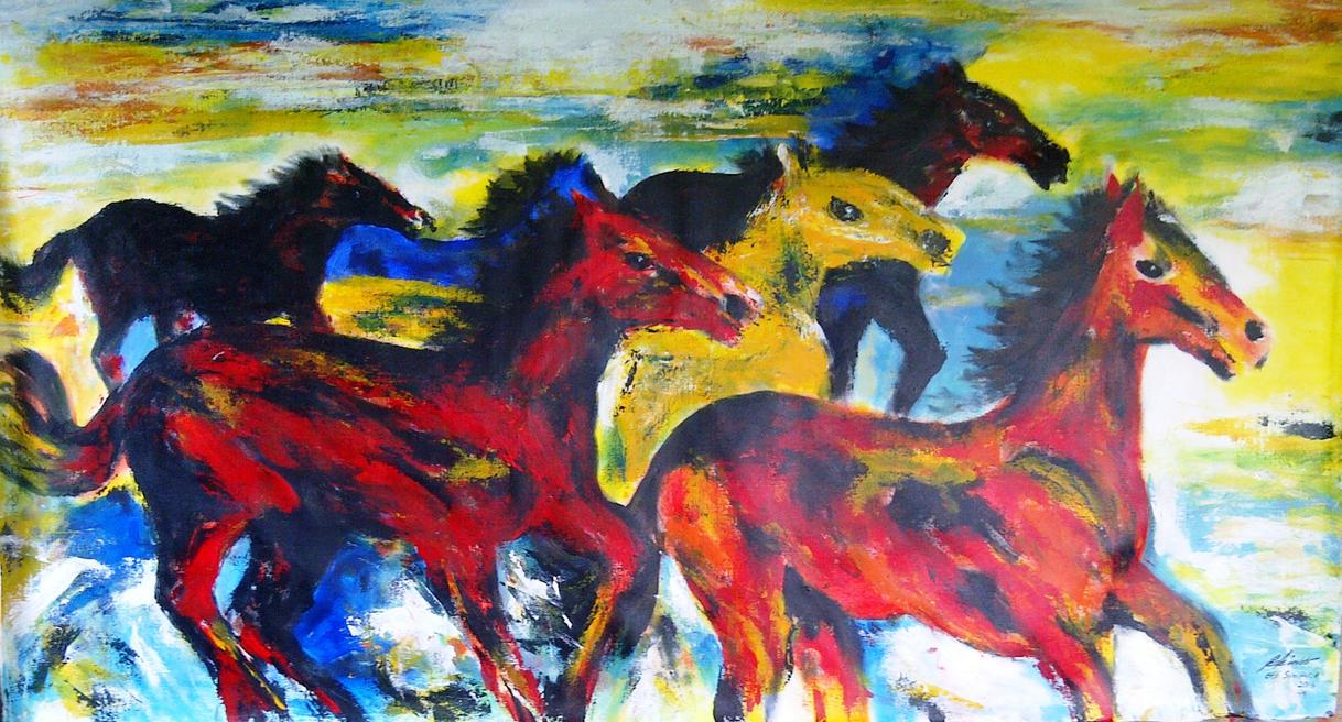 horses by ekosyaiful