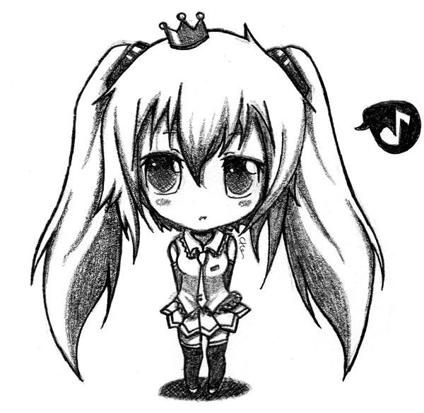 how to draw anime miku