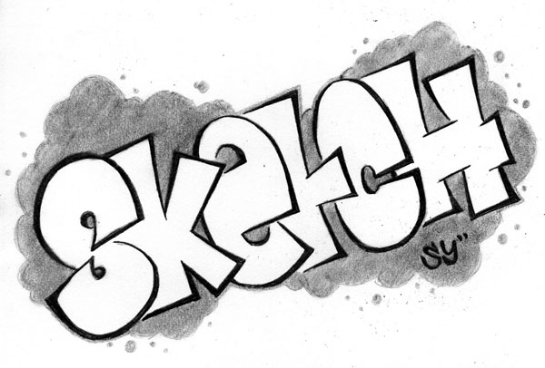 Graffiti Sketch by RadicalFlaw
