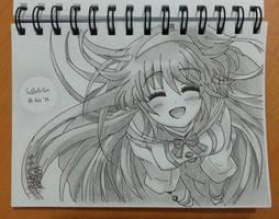Cute Kawaii Sweet Smile Anime Girl by SudiLin