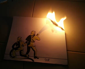 Firefighter Save My Artwork