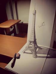 3D PARIS EIFFEL TOWER by SudiLin