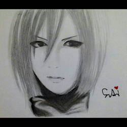 Semi Realistic Drawing of Mikasa Ackerman by SudiLin