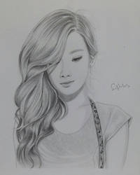 Tae Yeon SNSD Portrait Drawing by SudiLin