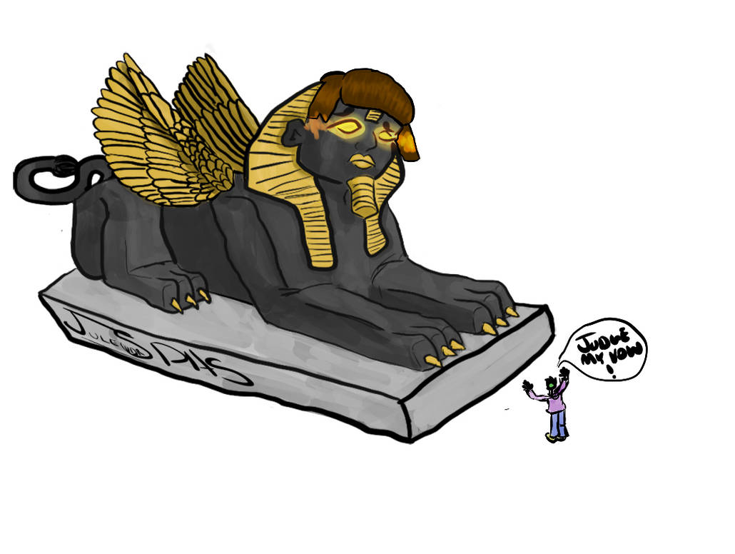 Sphinx of Black Quartz by verne001
