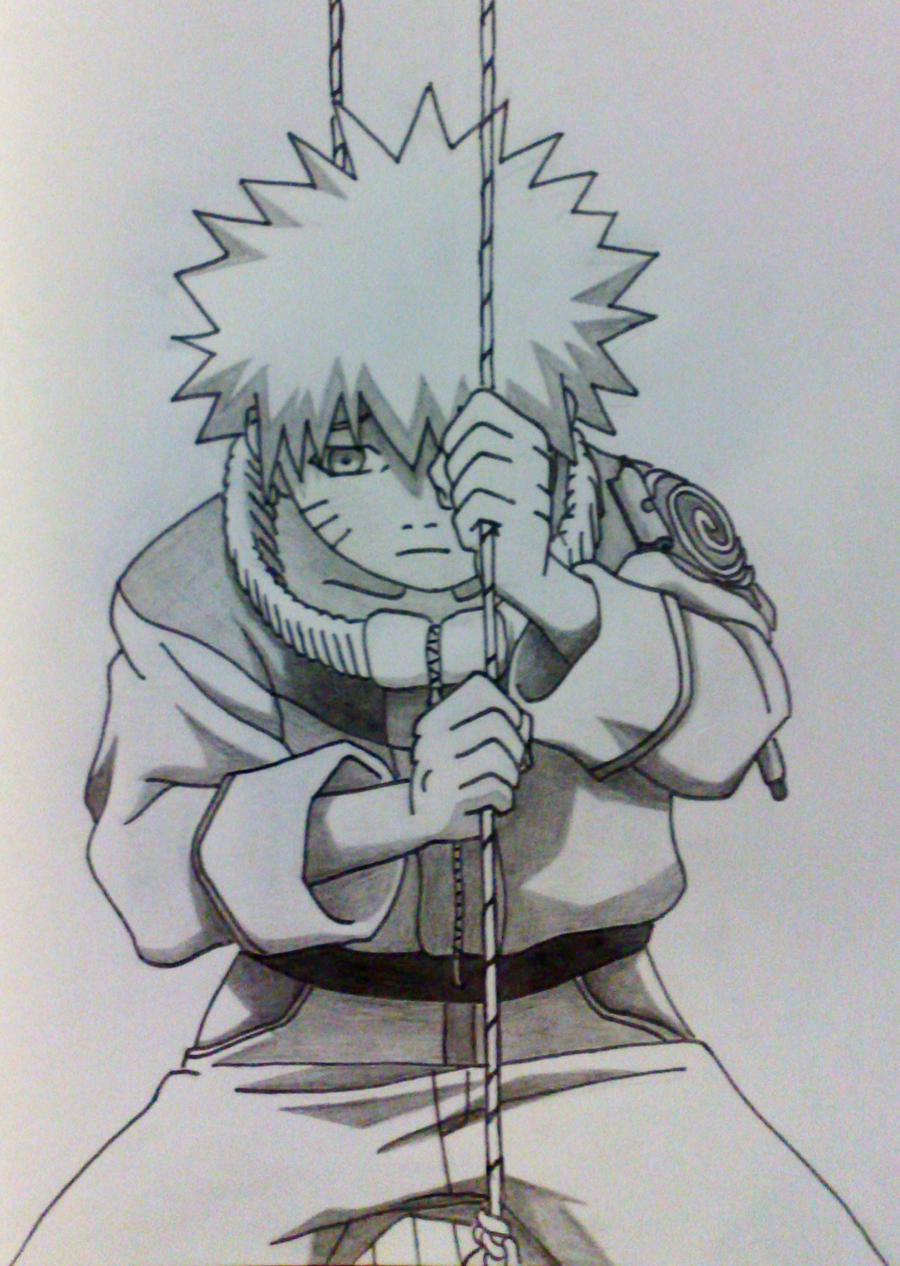 Must see Wallpaper Naruto Sketch - naruto_alone_by_kryptonstudio-d2s99dh  Pictures.jpg
