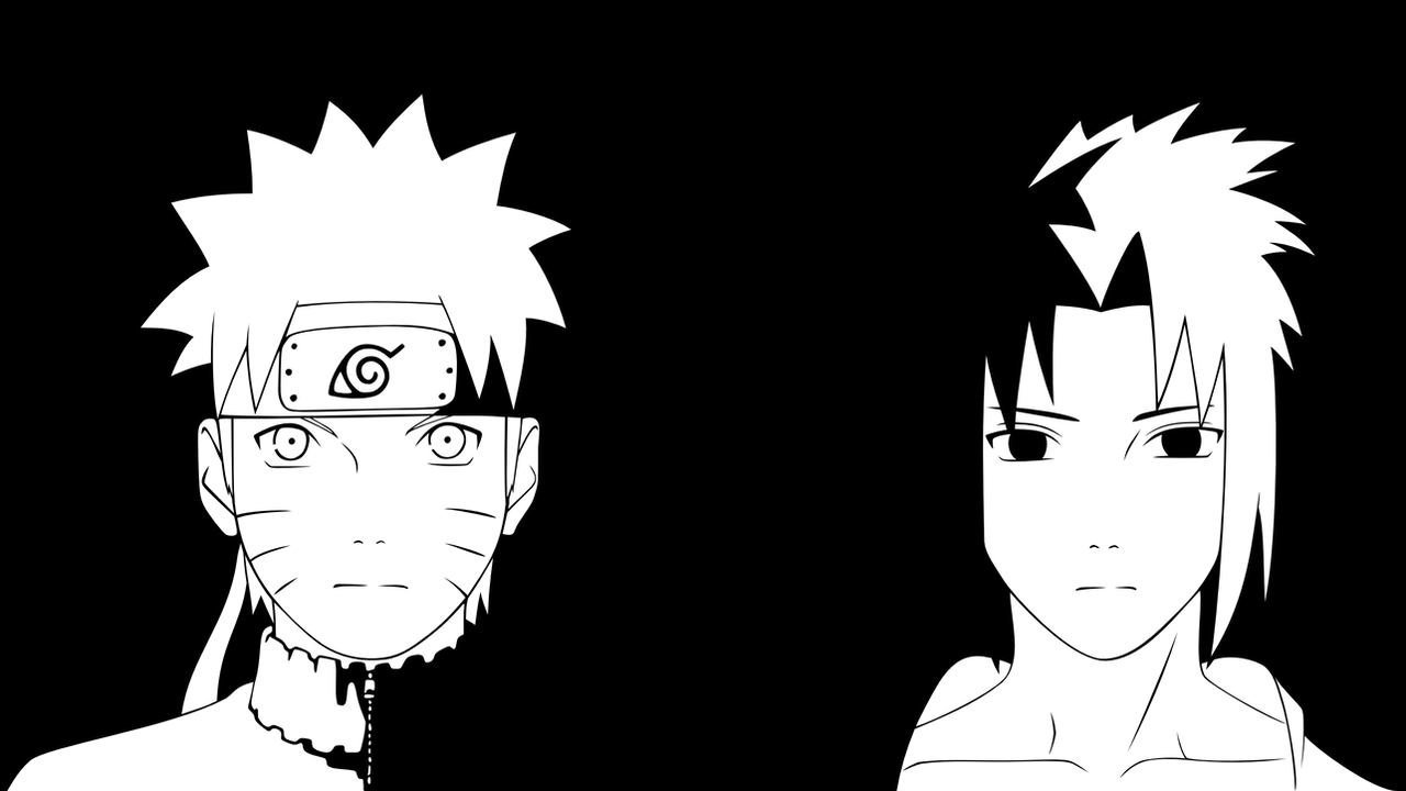 Sasuke Lineart : Naruto and sasuke lineart by kryptonstudio on deviantart
