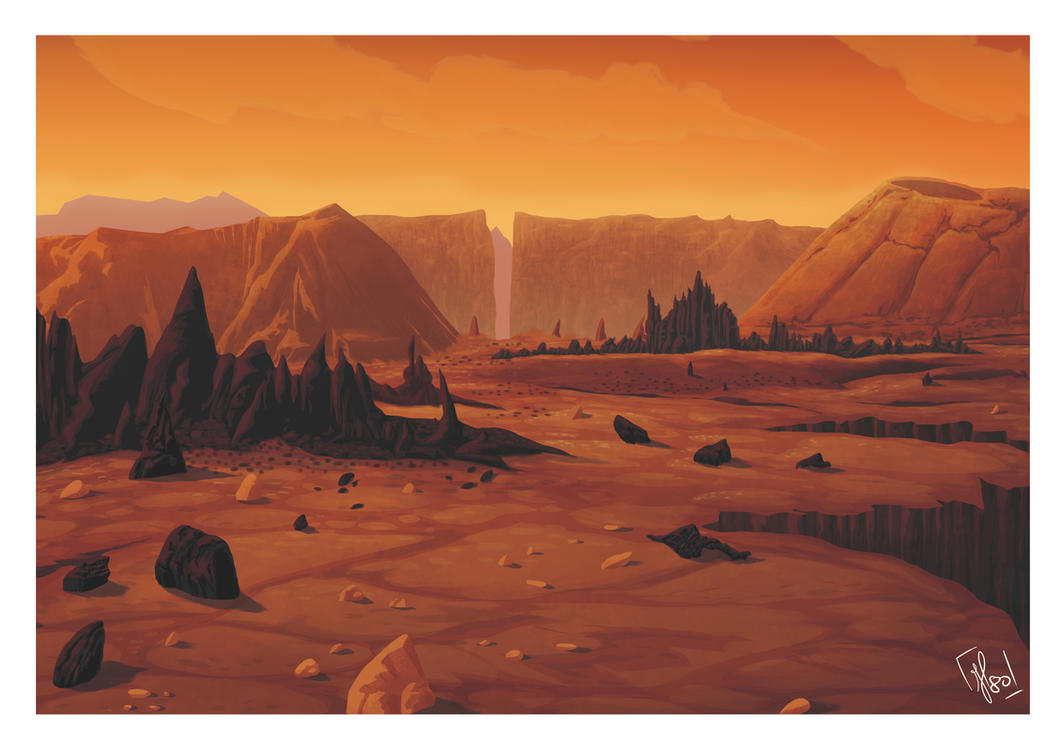 Martian landscape (inspired by Mission to Mars) by ...