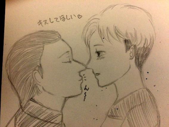 Kiss for me... by datafukuchan
