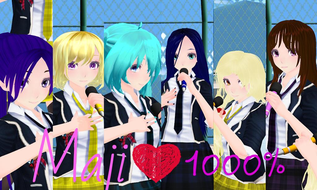 (MMD) Maji Love 1000% by AfinaSev