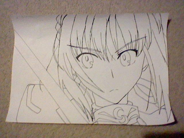 Line Art Zero : Fate stay night saber line drawing by zero on deviantart