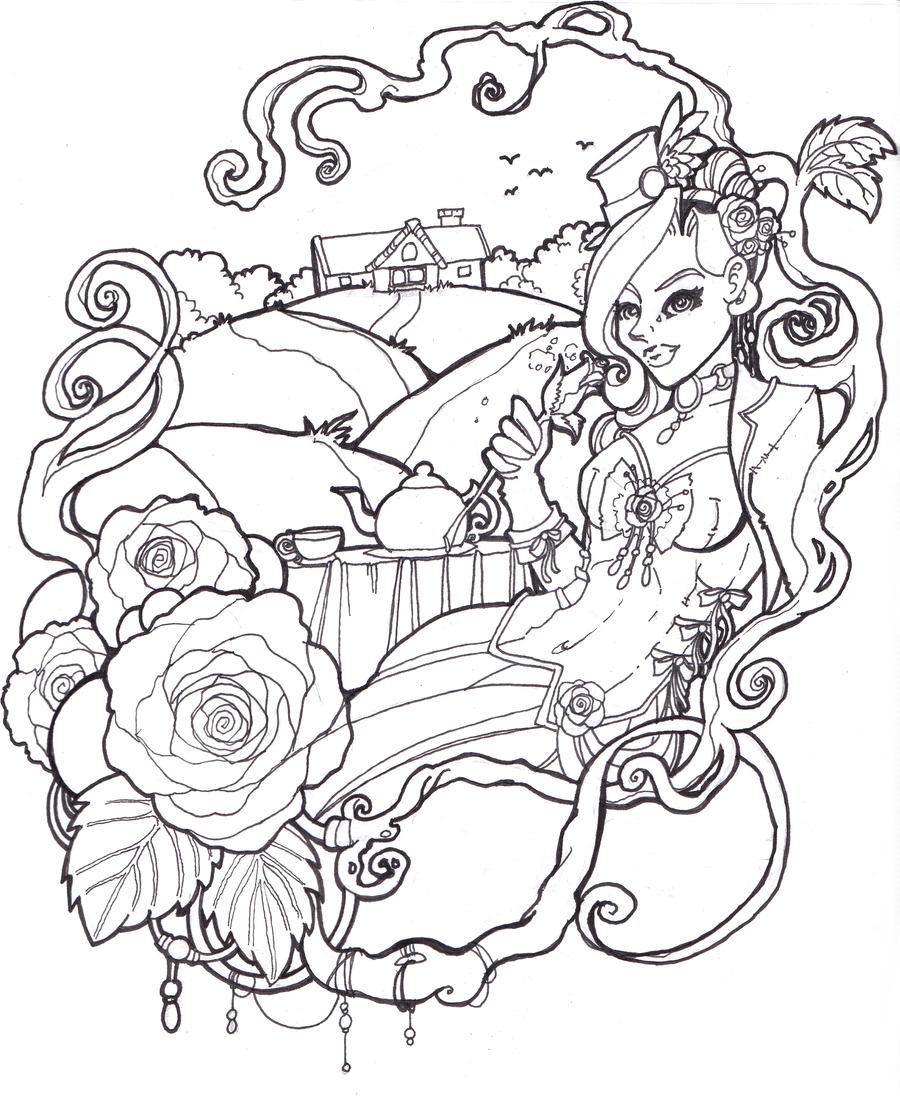 color me rose cottage by ladyduskfall on deviantart