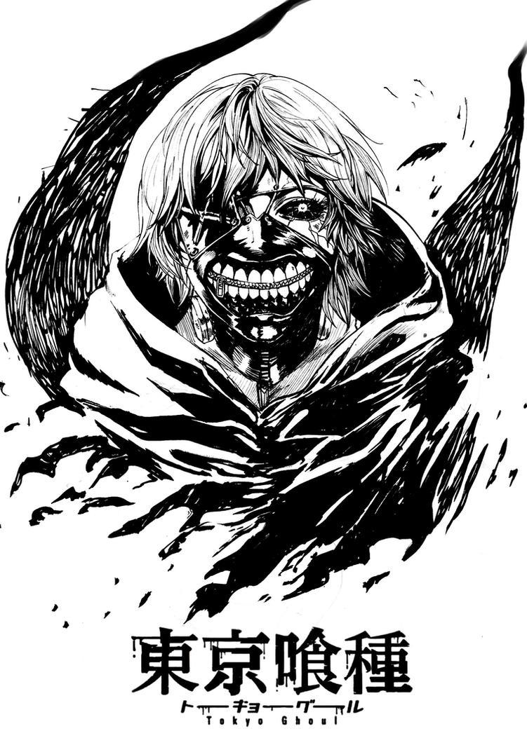 tokyo ghoul fanart lineart LR by winwinwinwin