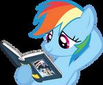 Rainbow Dash Hearts Books