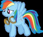 Rainbow Dash with Goggles