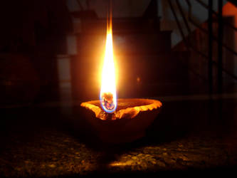 Earthen Lamp by PriyanshiPokharna