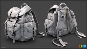 Kakadu Backpack - Highpoly Sheet 01