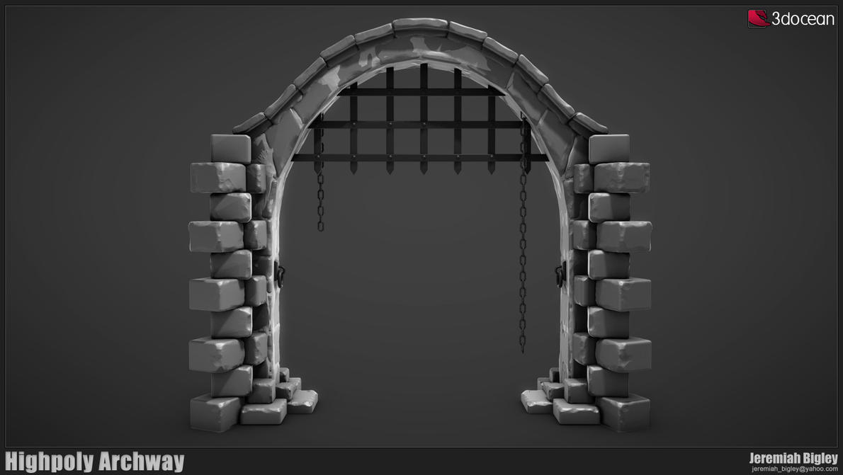 Modular dungeon highpoly arch by jeremiahbigley on deviantart for Prefab interior arches