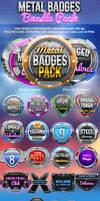 Metal badges bundle pack