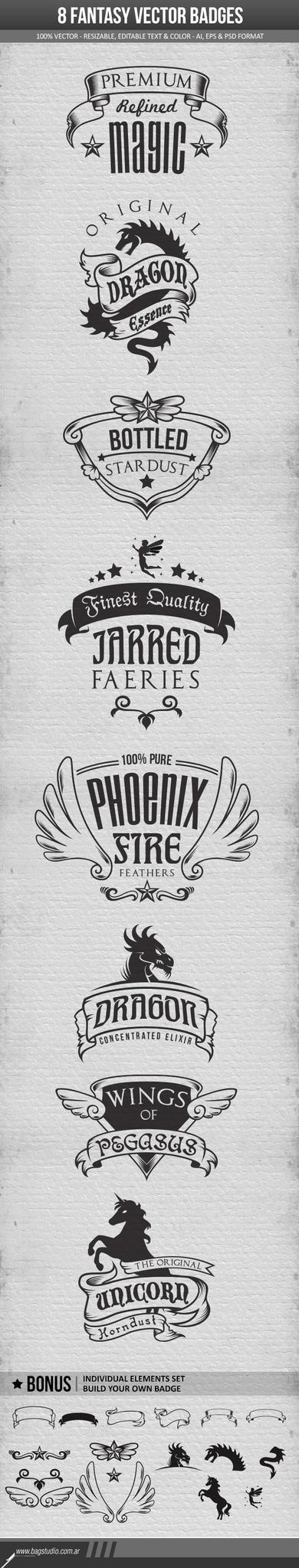 Fantasy Badges Pack by MrGabey