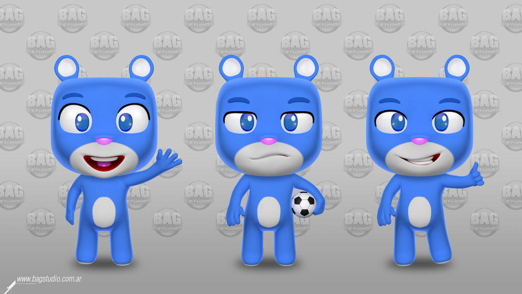 Cute Little Bear Character Design by MrGabey