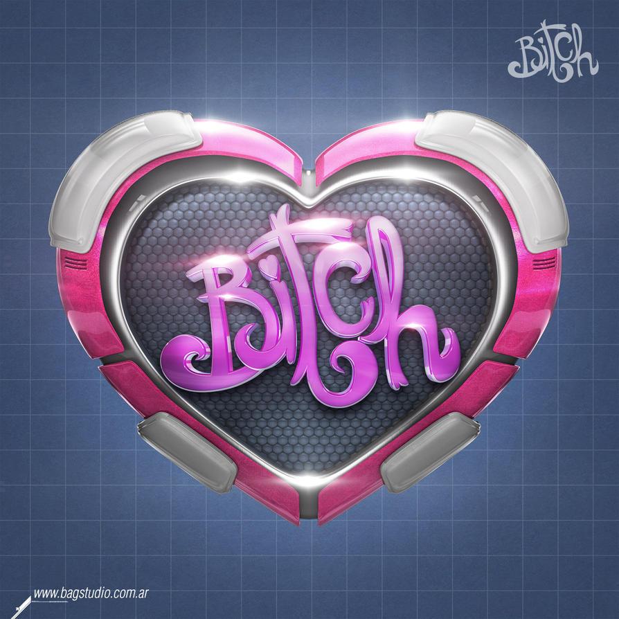 Cyber Heart (Bitch) Logo by Bagstudio by MrGabey
