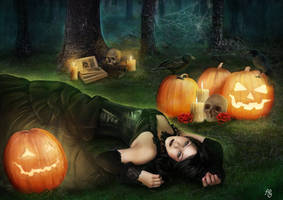 Halloween Witch by Alhys