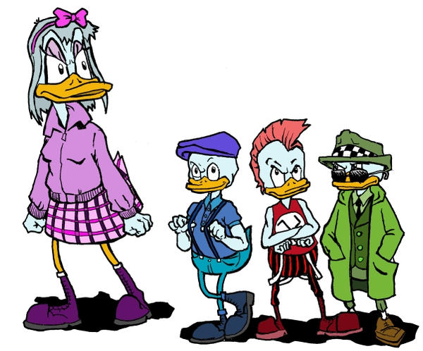 Daisy Huey Dewey and Louie by brzoza77