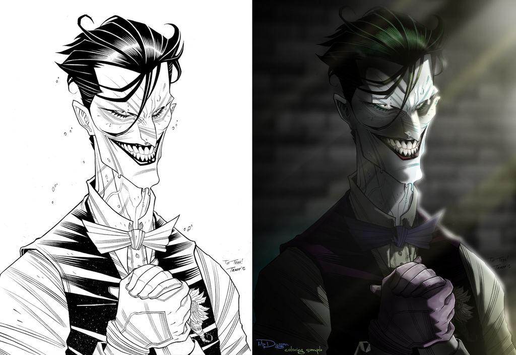 Joker coloring sample