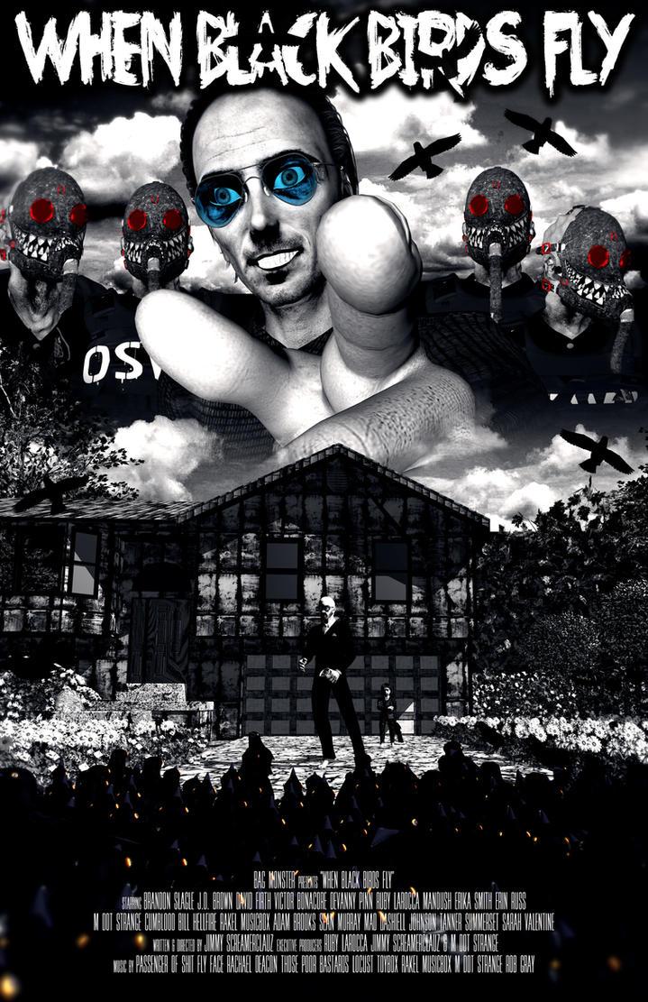 Poster design deviantart - When Black Birds Fly Poster Design 1 By Screamerclauz