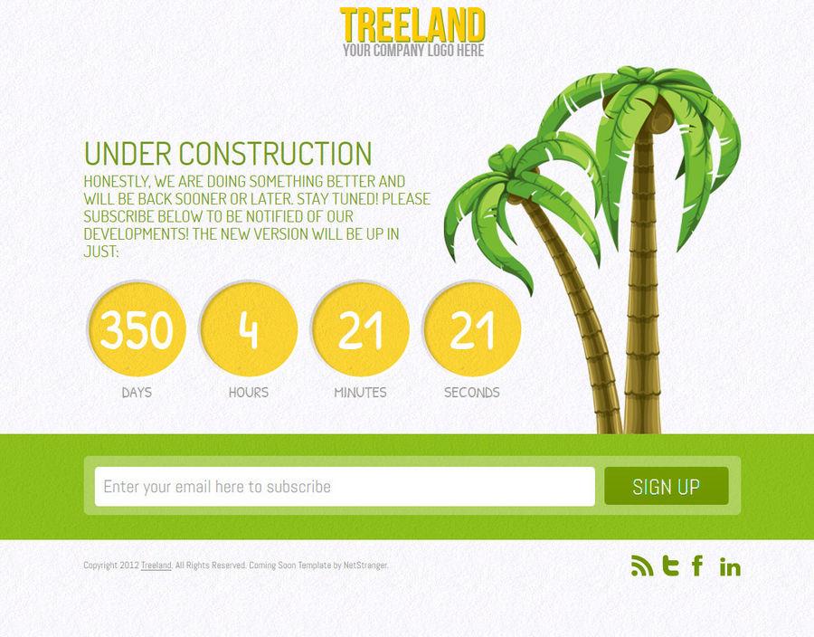 Treeland - Under Construction Theme