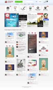Zizaza v.2.0 design community