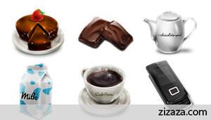 Iconset: Cafe noon