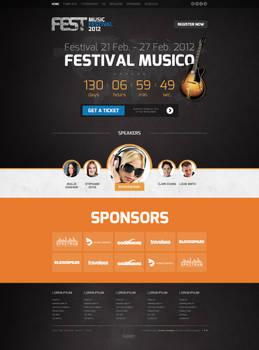 Joomla template - Fest