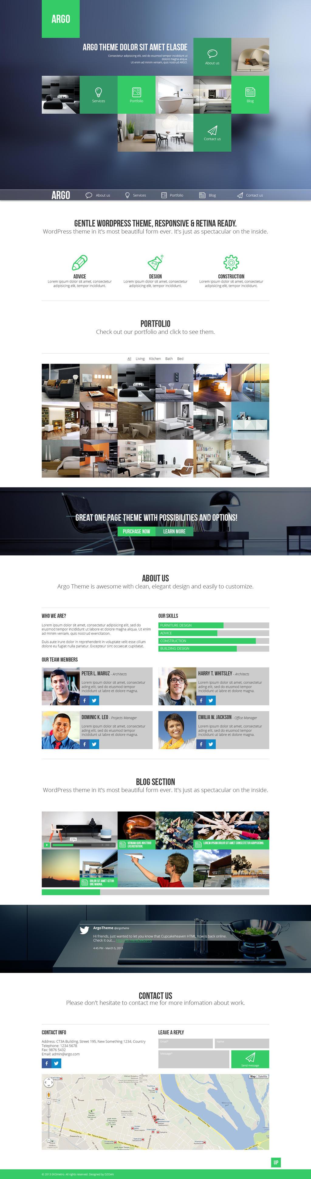 Argo - One Page Portfolio PSD Template by DarkStaLkeRR