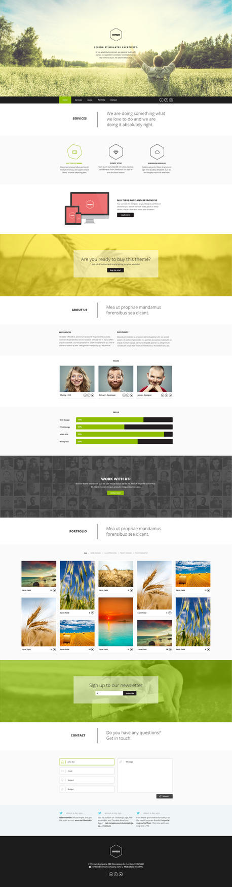 Vernum - One Page Multipurpose PSD Template by DarkStaLkeRR