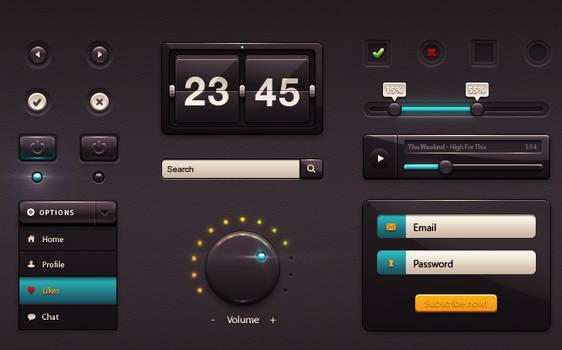 DarkGloss UI kit