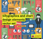 Infographics and chart design elements vector set