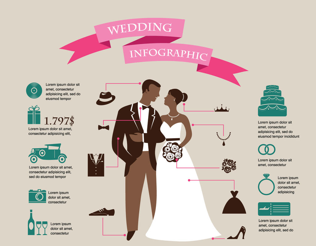Wedding Infographic Design By Darkstalkerr On Deviantart
