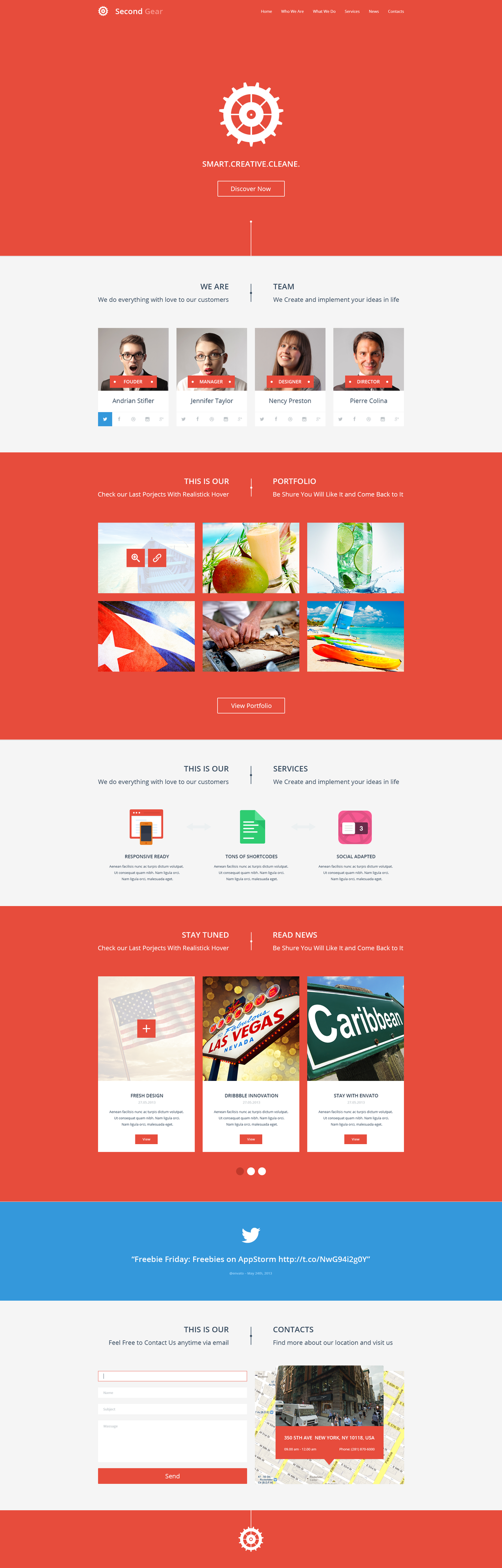 Second Gear - One Page Portfolio PSD Template by DarkStaLkeRR