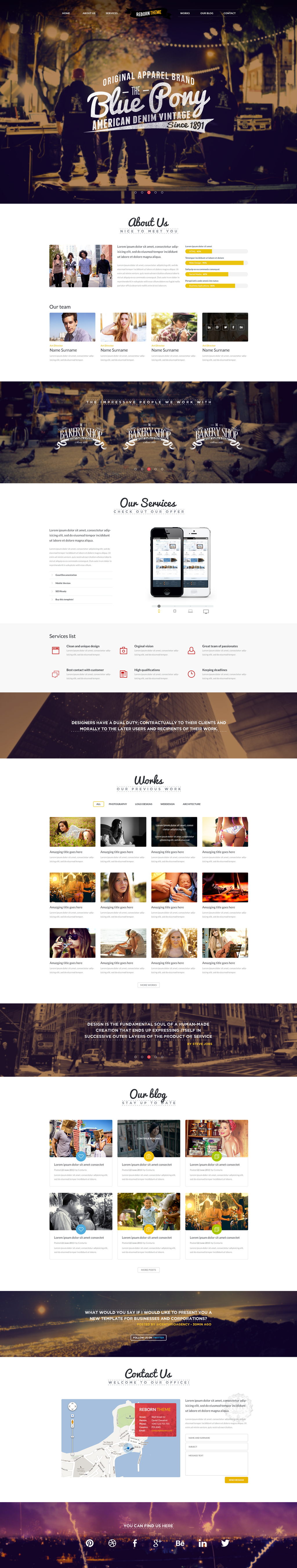 Reborn - Retro PSD Template by DarkStaLkeRR