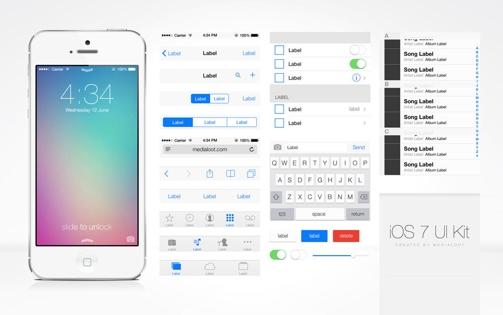 iOS7 UI Kit by DarkStaLkeRR