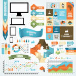 Infographic and diagram design elements