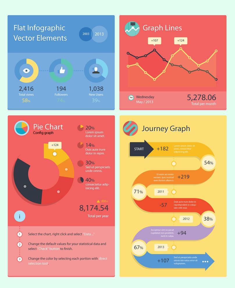 Flat Infographic Elements By Darkstalkerr On Deviantart