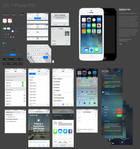 iOS 7 iPhone UI kit