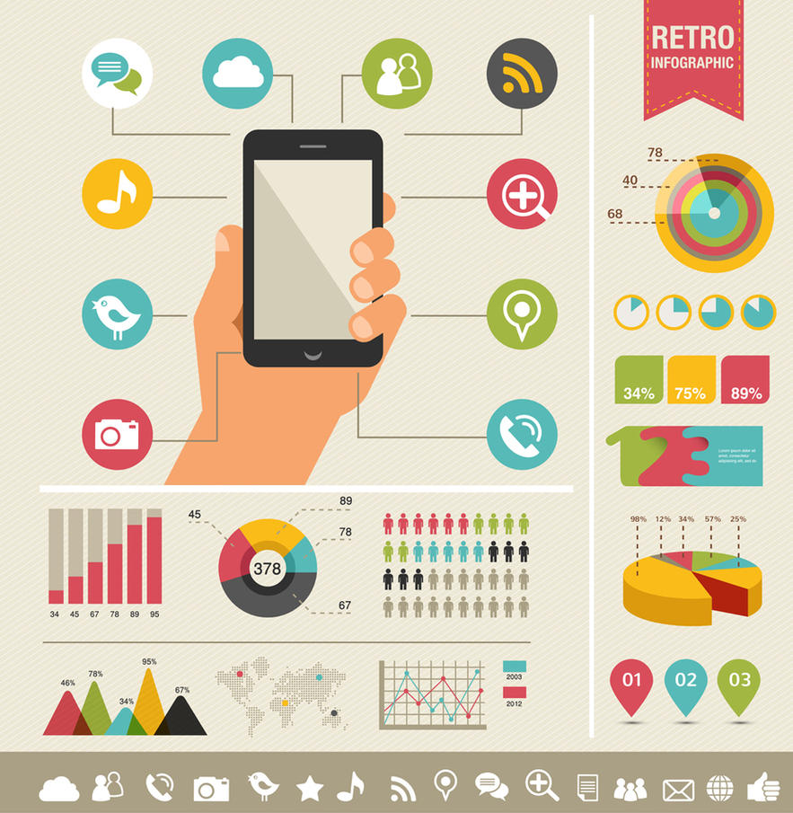 Retro infographic elements by DarkStaLkeRR